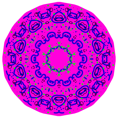 Circular pattern in the form of a mandala
