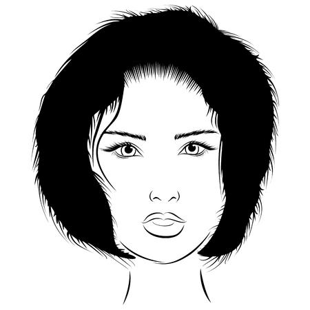 Graphics portrait girl genre minimalism Ilustrace