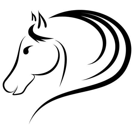 Linear drawing horse genre minimalism