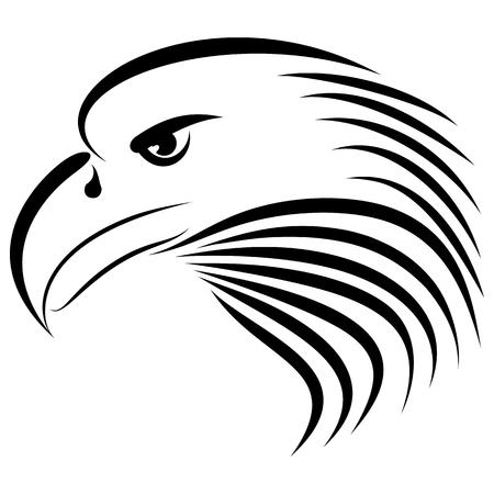 Linear drawing eagle genre minimalism