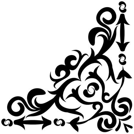Decorative ornament swirl shapes or elegant vintage frame border design