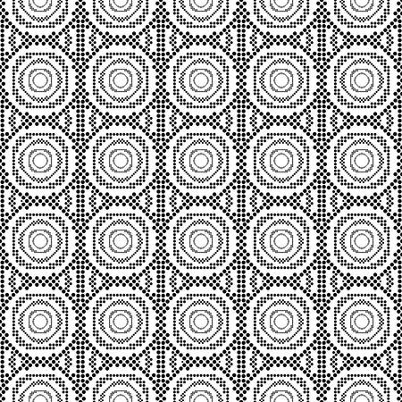 Pattern seamless circle abstract wave background. Japanese circle pattern vector Ilustrace