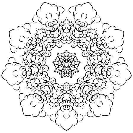 Circular pattern in form of mandala Ilustrace