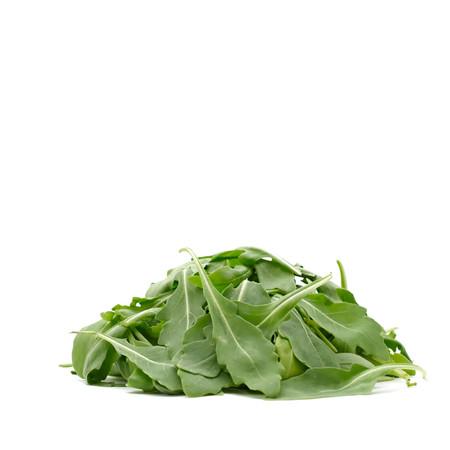 vegeterian: Fresh, green, vegeterian and vegan healthy, raw rocket leaves. Pure white background.