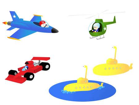 fighter pilot: Una raccolta di illustrazioni che sarebbe ricorso ai ragazzi.  Vettoriali