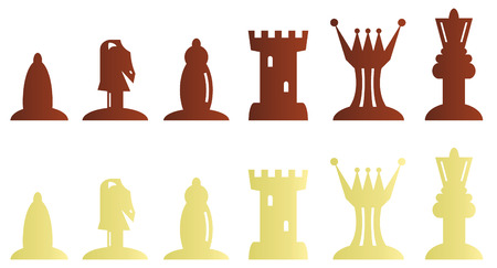 bitmap: Chess pieces bitmap illustration