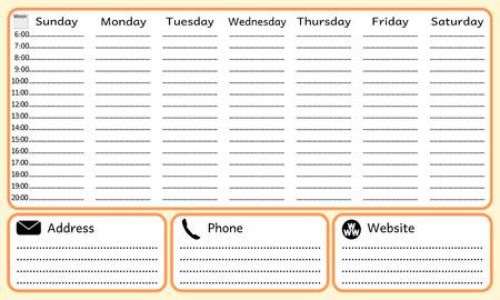 planificacion: Semana de la planificaci�n port�til Vectores