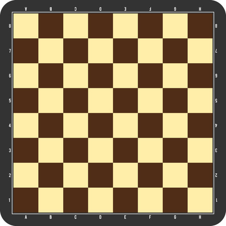 chessboard: Chessboard with grey frame
