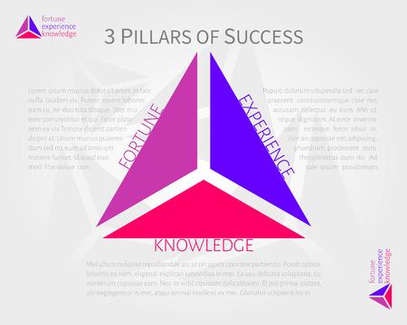 conocimiento: 3 pilares de la infograf�a vector �xito