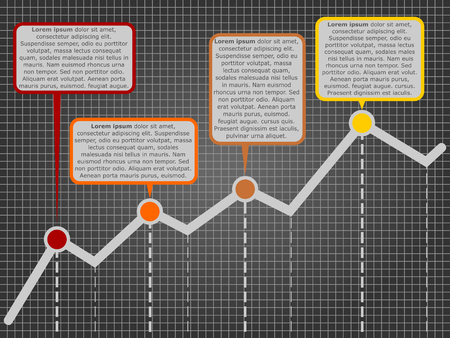 comments: Vector growth chart with comments