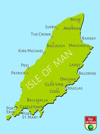 irish cities: Map of Isle of Man