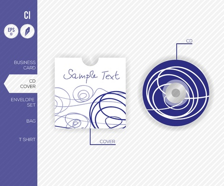 Abstract Vector CD - Corporate Identity Design for Business - Vector illustration illustration