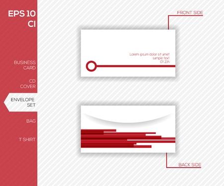 envelope design: Abstract envelope design template Illustration