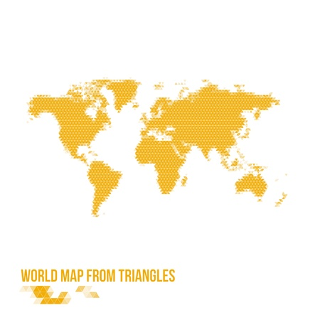 World Map From Triangles