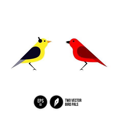 pals: Two Bird Pals Illustration