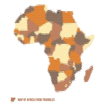 Map of Africa from Triangles - Vector Illustration - Infographic Element Stock Vector - 21527368