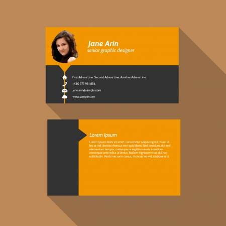 call card: Modern simple light business card template - Flat Design - Vector Illustration