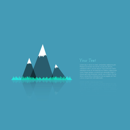 Simple Abstract Mountain Background with Place for Your Text - Vector Illustration Vector