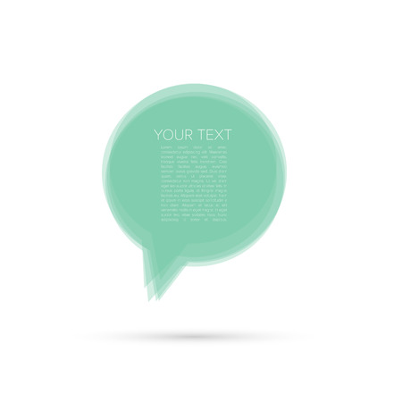 Modern Abstract Speech Bubble with Place for Your Text - Vector Illustration Vector