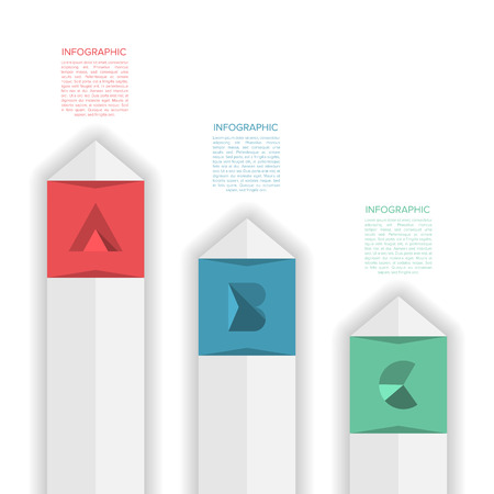 vecotr: Modern Minimal Design Infographic Template with Alphabet - Vecotr Infographics - Numbered Banner - Horizontal Cutout lines - Website Layout Illustration