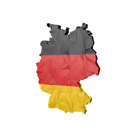 Low Poly Germany Map with National Flag - Infographic Illustration illustration