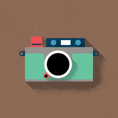 Analog Rangefinder Film Camera - Flat Design - Vector Illustration Vector