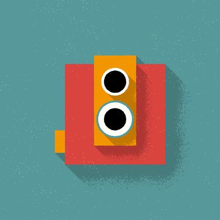 Analog Retro Film Camera - Vector Illustration - Flad Design