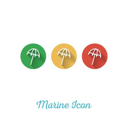 sun umbrella: Sun Umbrella Marine Flat Icon