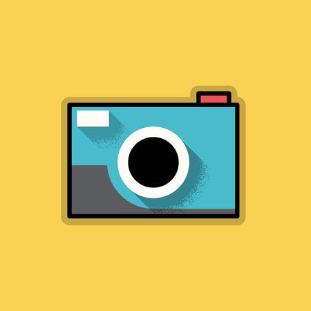 analog camera: Retro Hipster Analog Camera - Vector Illustration Illustration