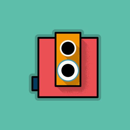 Retro Hipster Analog Camera - Vector Illustration Vector