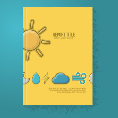 weather report: Weather Colorful Report  Brochure Template - Book Cover - Vector Illustration Illustration