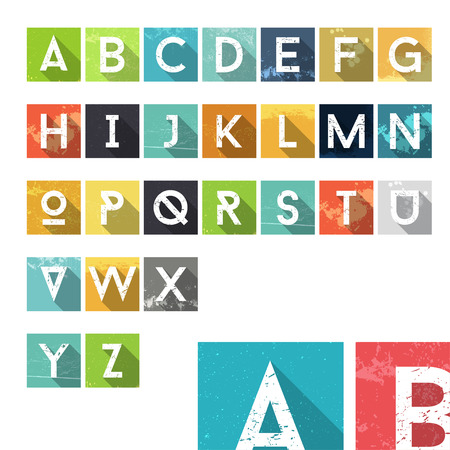 ink spill: Grunge Dust Colorful Alphabet Icons - Typography Element - Vector Illustration