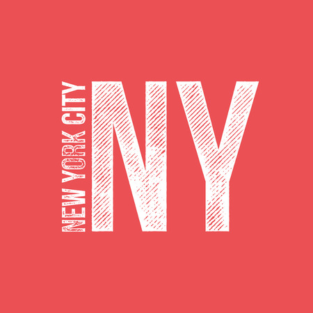 New York City Retro Vintage Dirty Label - T-shirt Design - Vector Illustration Çizim