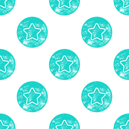 sea star: Blue Sea Star Patten on White Background - Grunge Retro Seamless Pattern Background - Vector Illustration