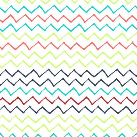 refracted: Colorflul Refracted Lines Pattern on White Background - Hand Drawn Doodle Seamless Surface Pattern Design - Vector Illustration Illustration