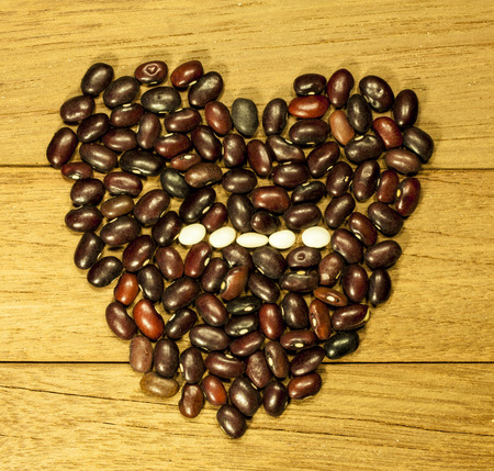 minus: heart with a minus sign beans