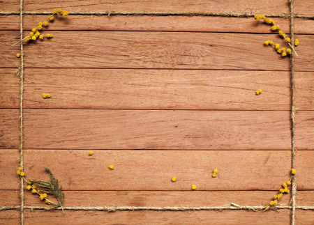 """caoba: el fondo para la escritura de """"tablón de madera de caoba con ramas de mimosa"""""""