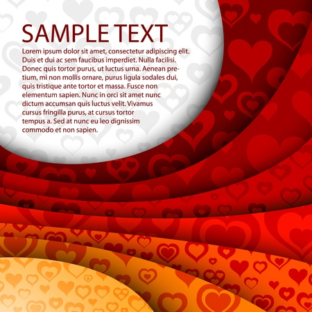 red happiness: abstract red valentine background Illustration