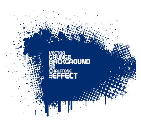 abstrakt blau Grunge-Hintergrund Vektorgrafik