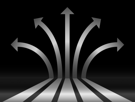 abstract silver 3d glossy arrows background Illustration