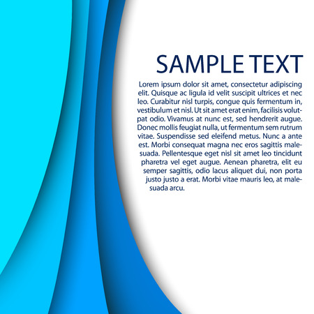 Abstract blue background with custom text copy space