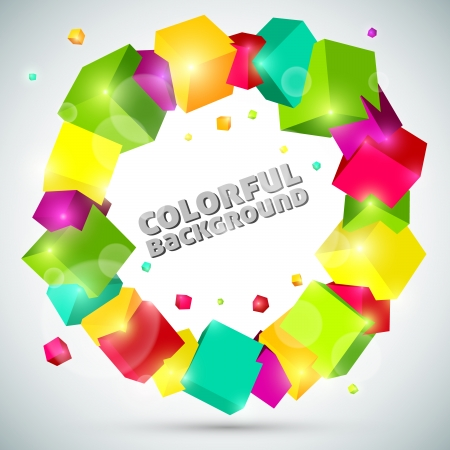colorful abstract cube background