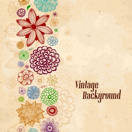 vintage paisley hand drawn background