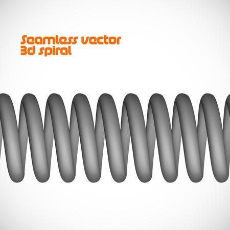 Vector seamless 3d spring   spiral