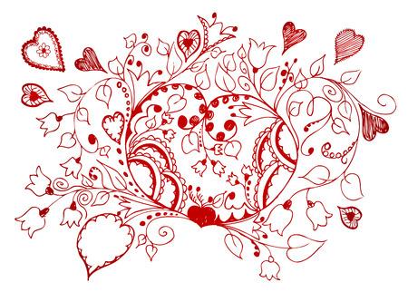 hand drawn valentine background
