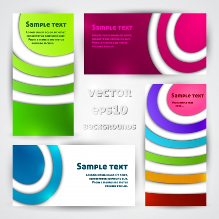 Set of colorful designs