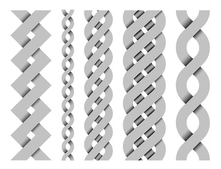 collection of metal vector seamless border patterns