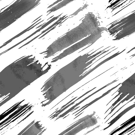 Grunge brushes seamless pattern