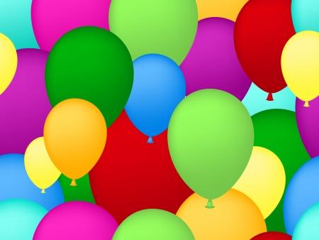 seamless balloons background Illustration