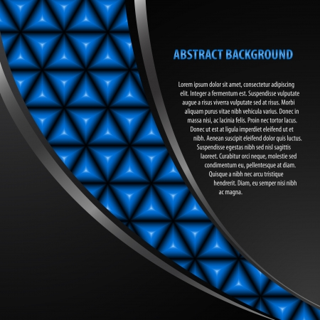 Abstract black background with blue jewels pattern